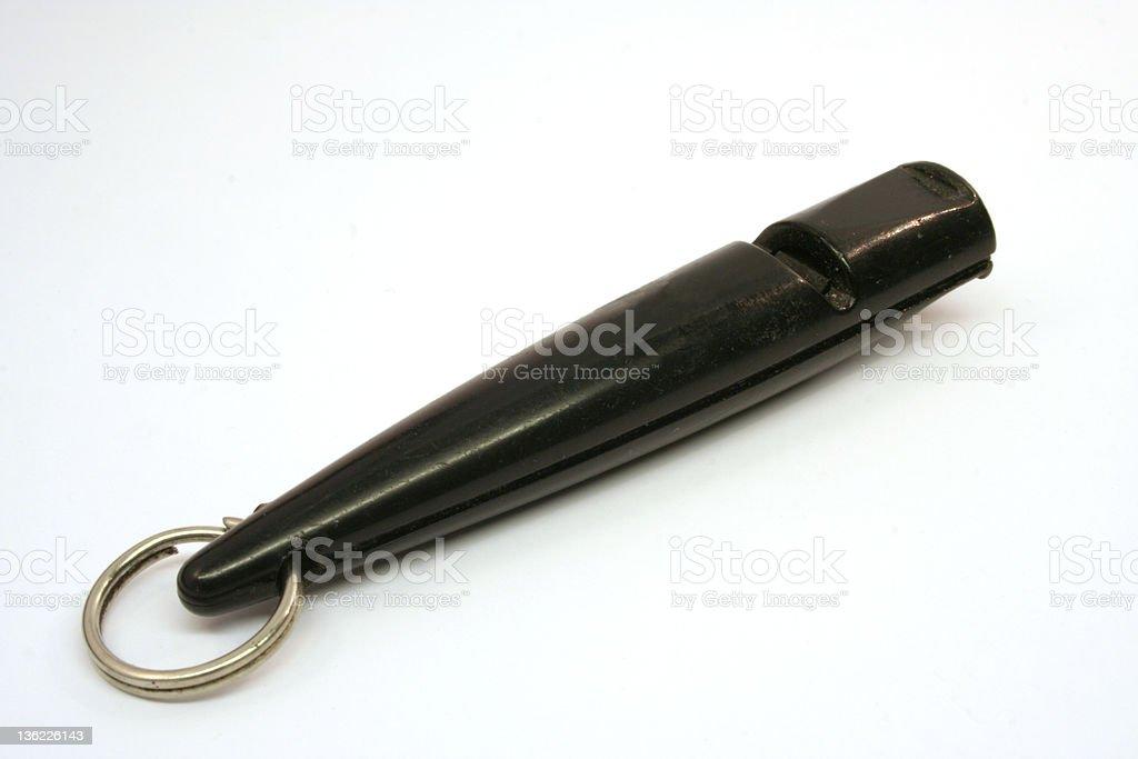 Dog whistle stock photo