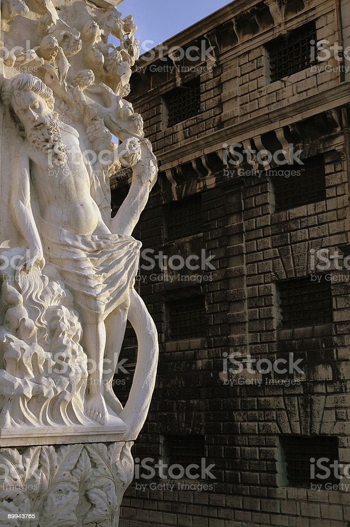 Doge's Palace and Prison, Venice, Italy. royalty-free stock photo