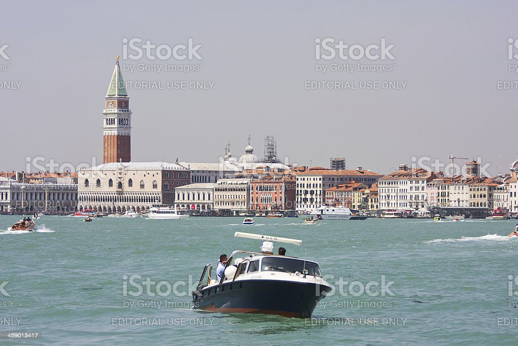 Doge's Palace and St. Mark's campanile. Venice. Italy stock photo