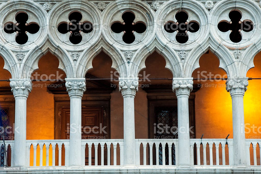 Doges Palace Illuminated stock photo