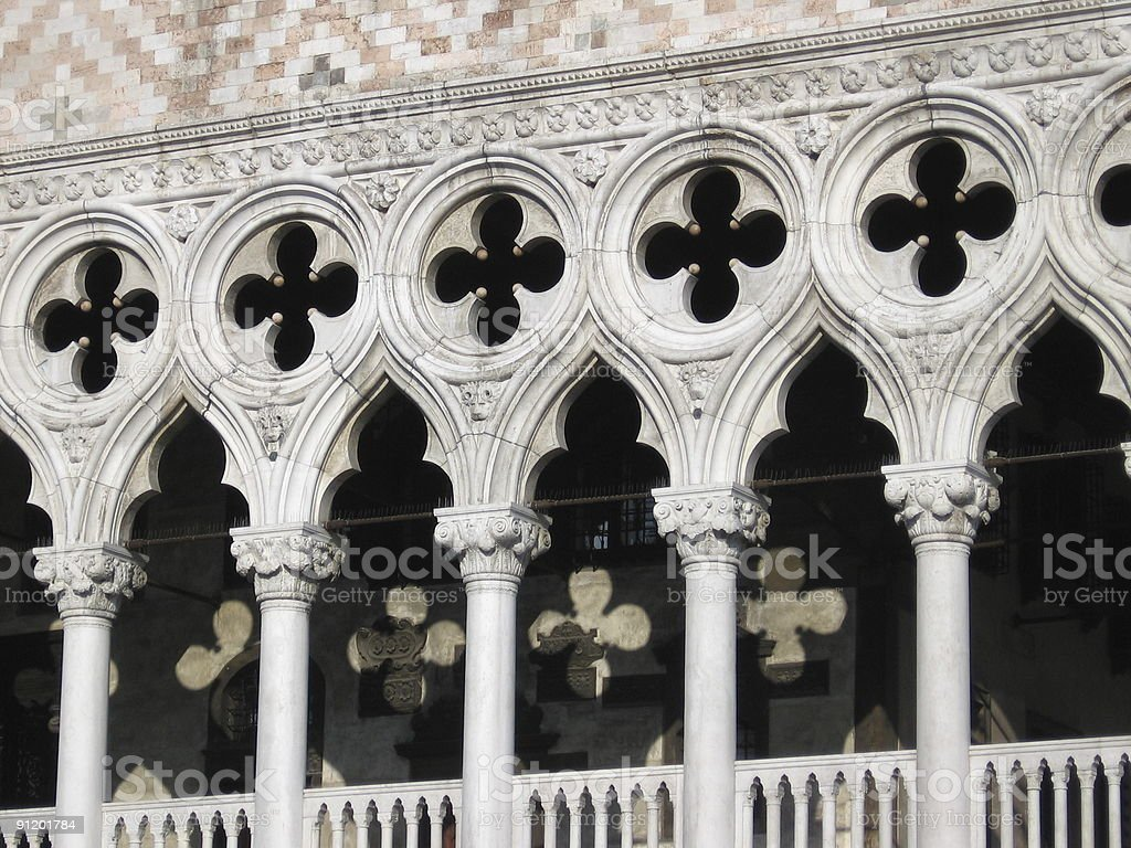 Doges Palace (St. Mark's Square) in Venice Italy royalty-free stock photo