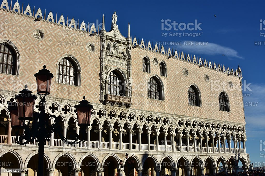 Doge's Palace, one of the most famous landmark in Venice stock photo
