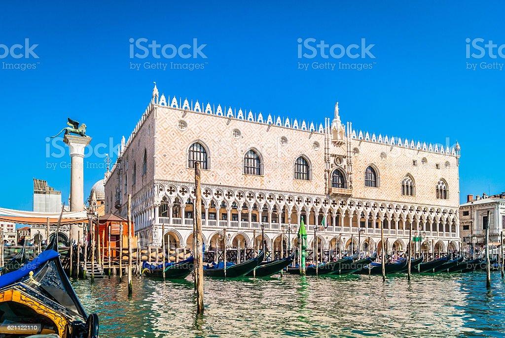 Doge's Palace Venice city. stock photo
