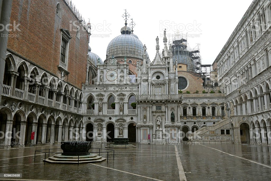 Doge's Palace (Palazzo Ducale) - Venice. ITALY. stock photo