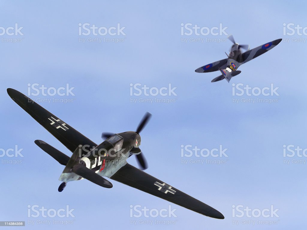 Dogfight royalty-free stock photo