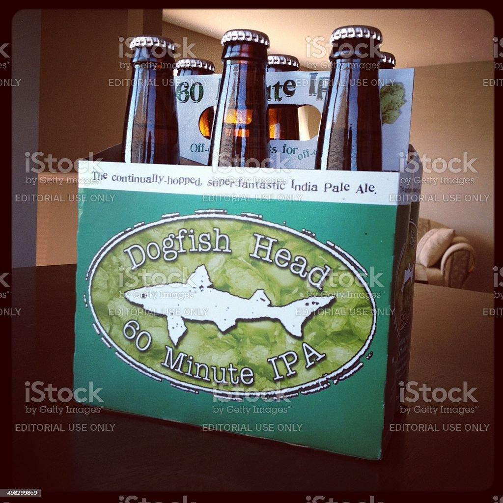 Dogfish Head 60 Minute IPA Beer royalty-free stock photo