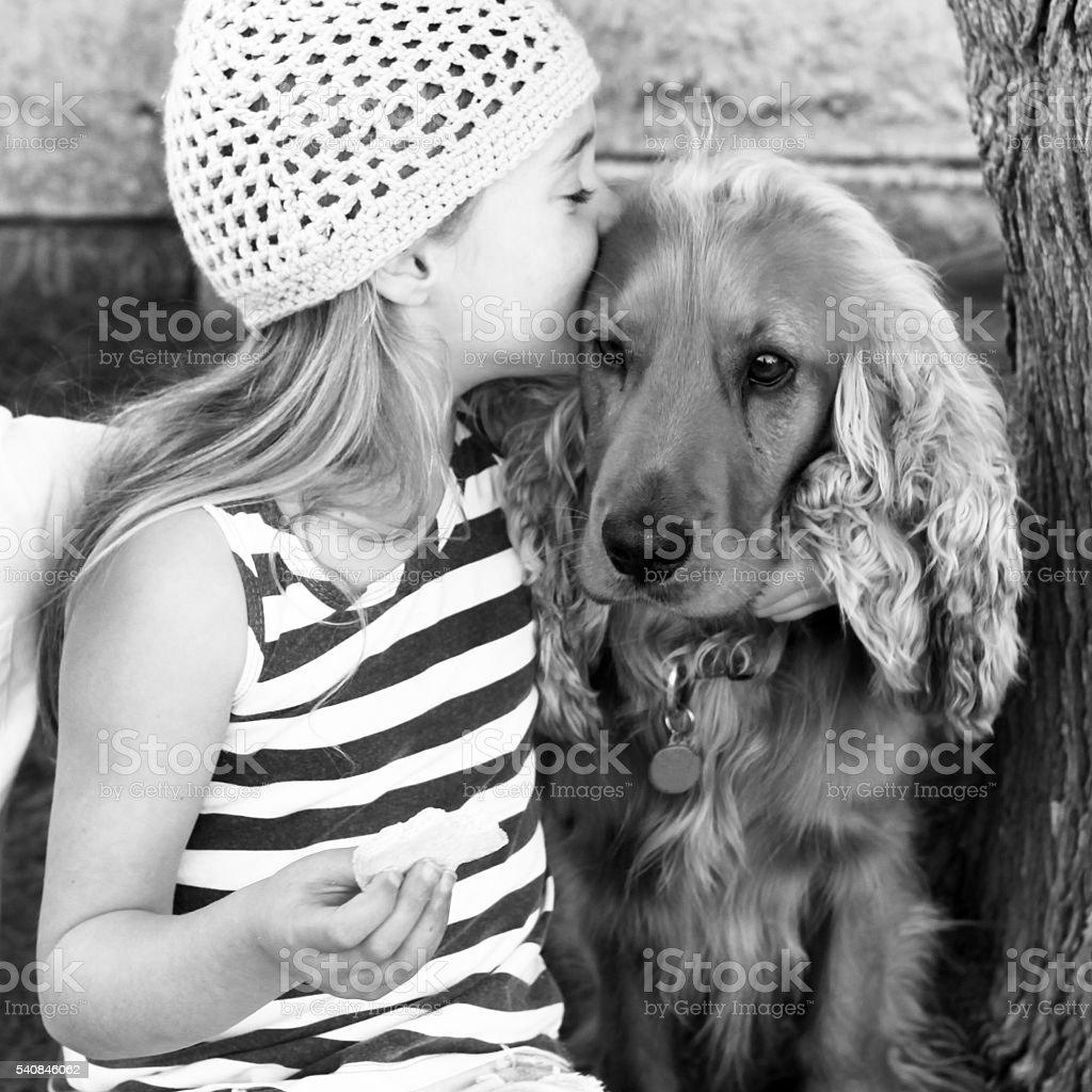 Doggie love stock photo