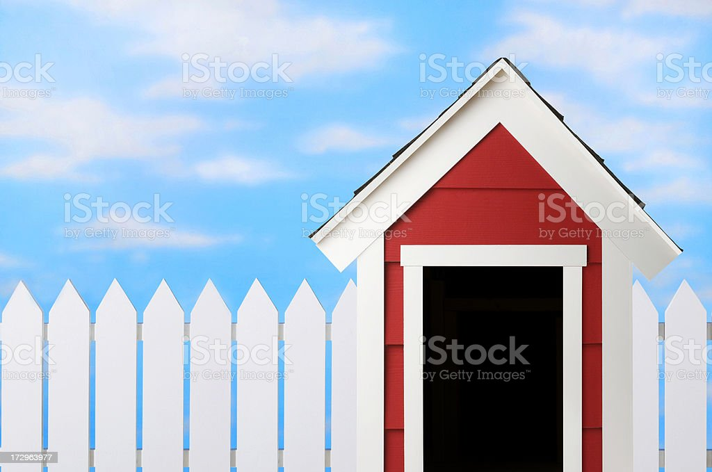 Doghouse royalty-free stock photo