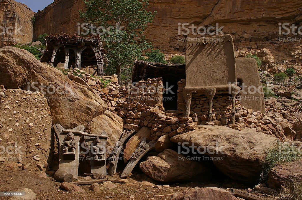 Dogon Country, Mali - July, 2009 stock photo