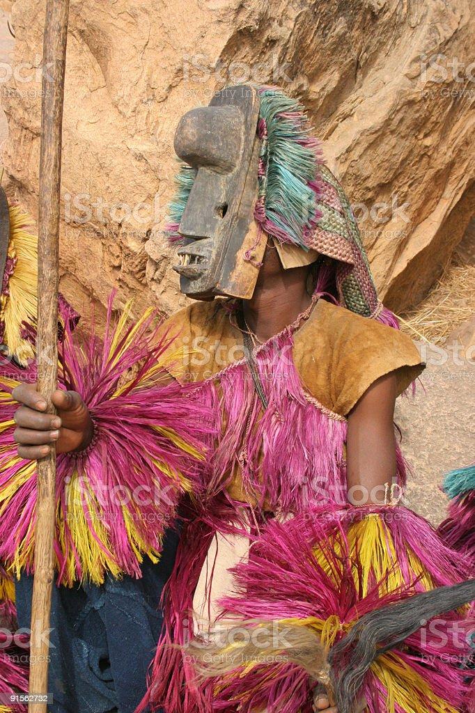 Dogon Masked Dancers stock photo