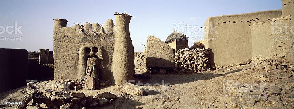 Dogon sacred shrine stock photo