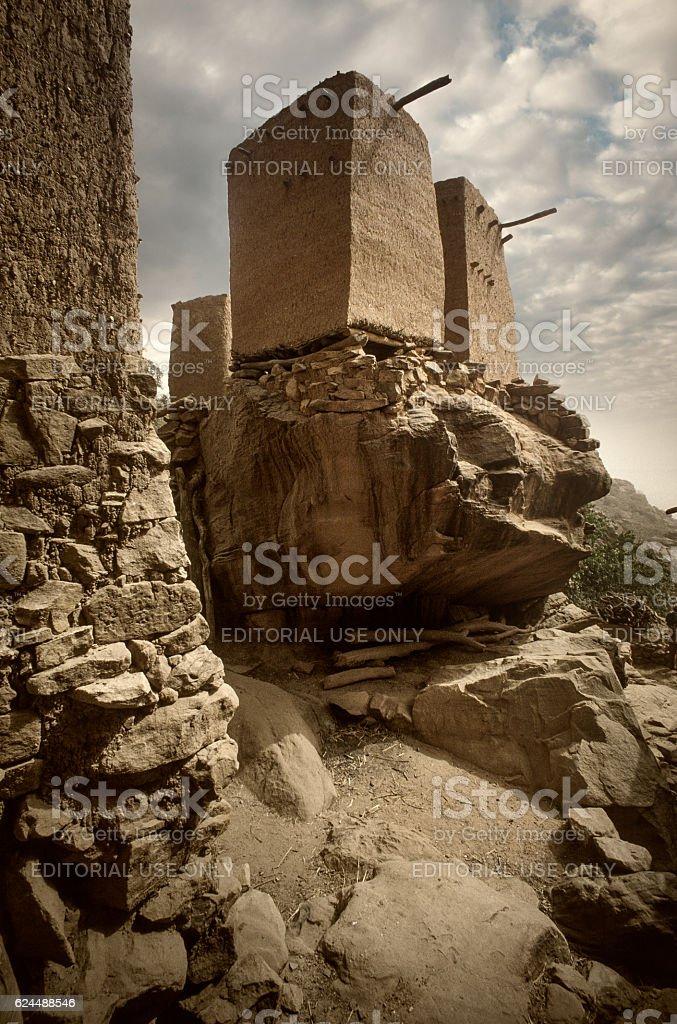Dogon village, Dogon land, Tireli, Mali, Africa stock photo