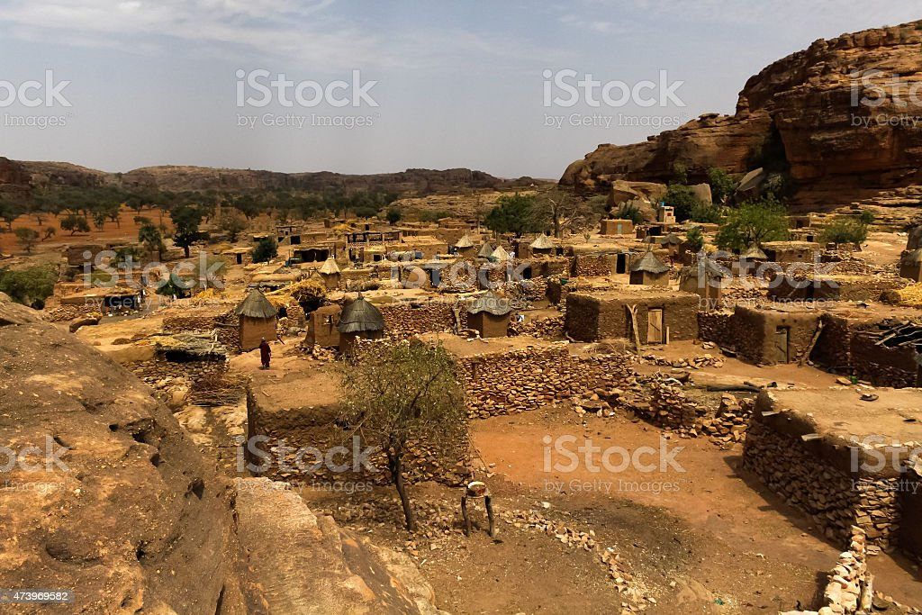 Dogon Village, Mali, West Africa stock photo
