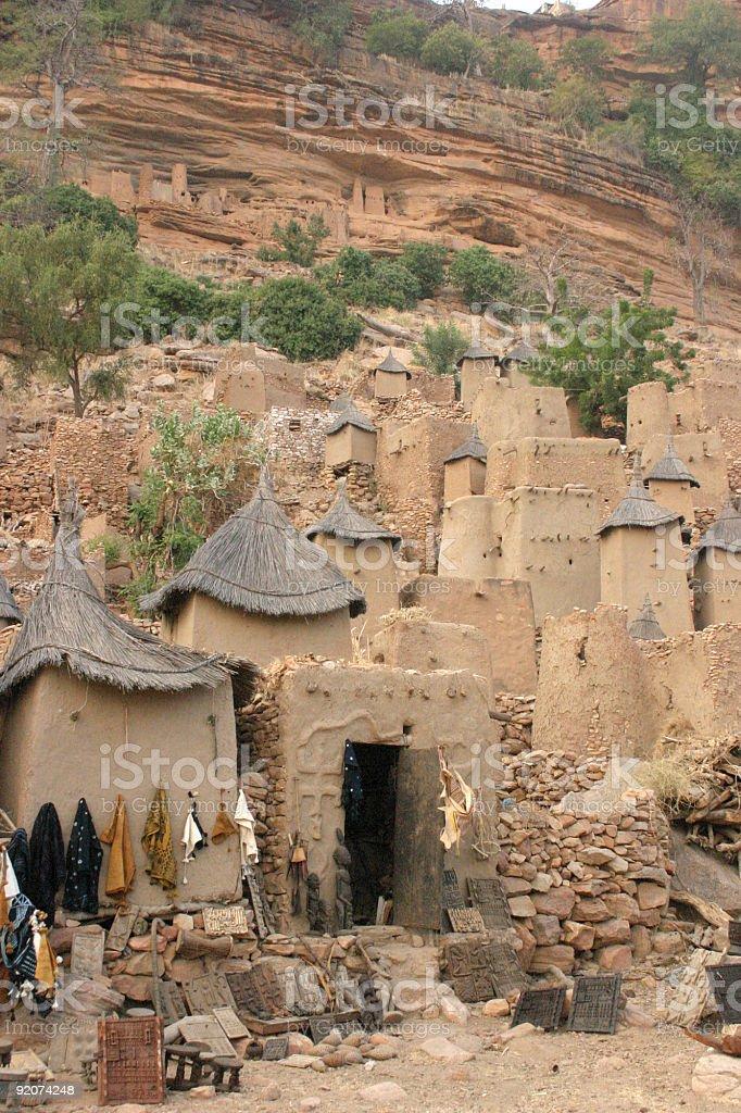 Dogon Village of Irelli in Mali - 2 stock photo