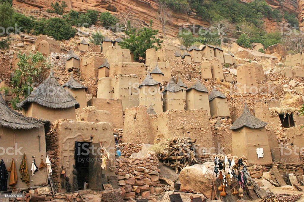 Dogon Village of Irelli in Mali stock photo