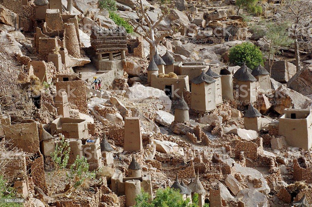Dogon village stock photo