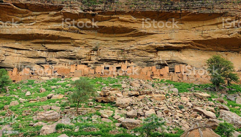 Dogon village ruins stock photo