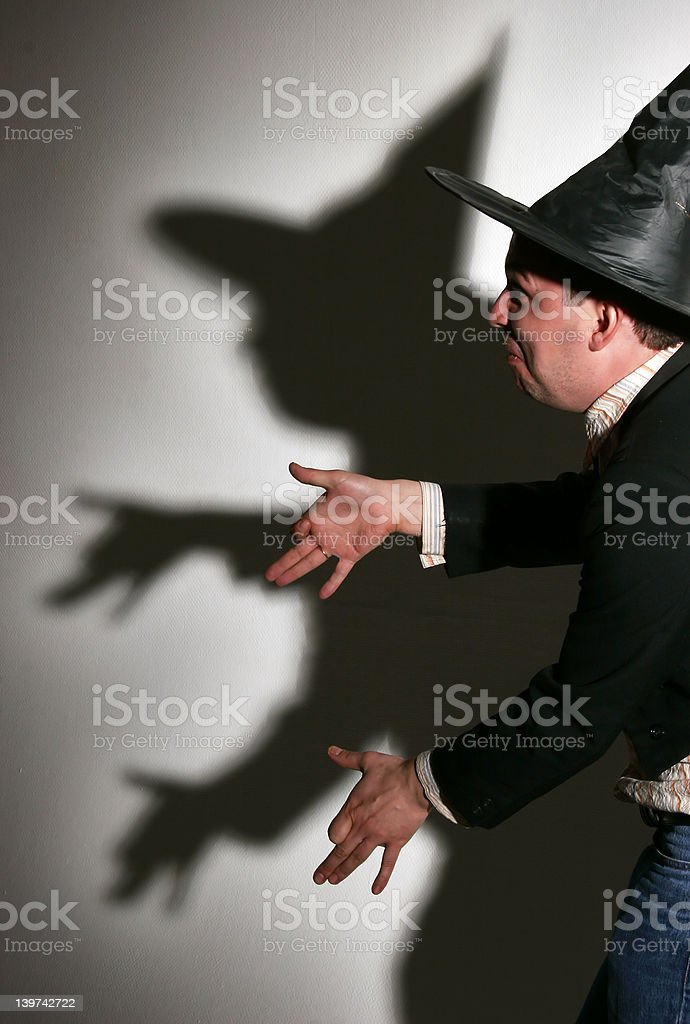 Dogs and shadows stock photo