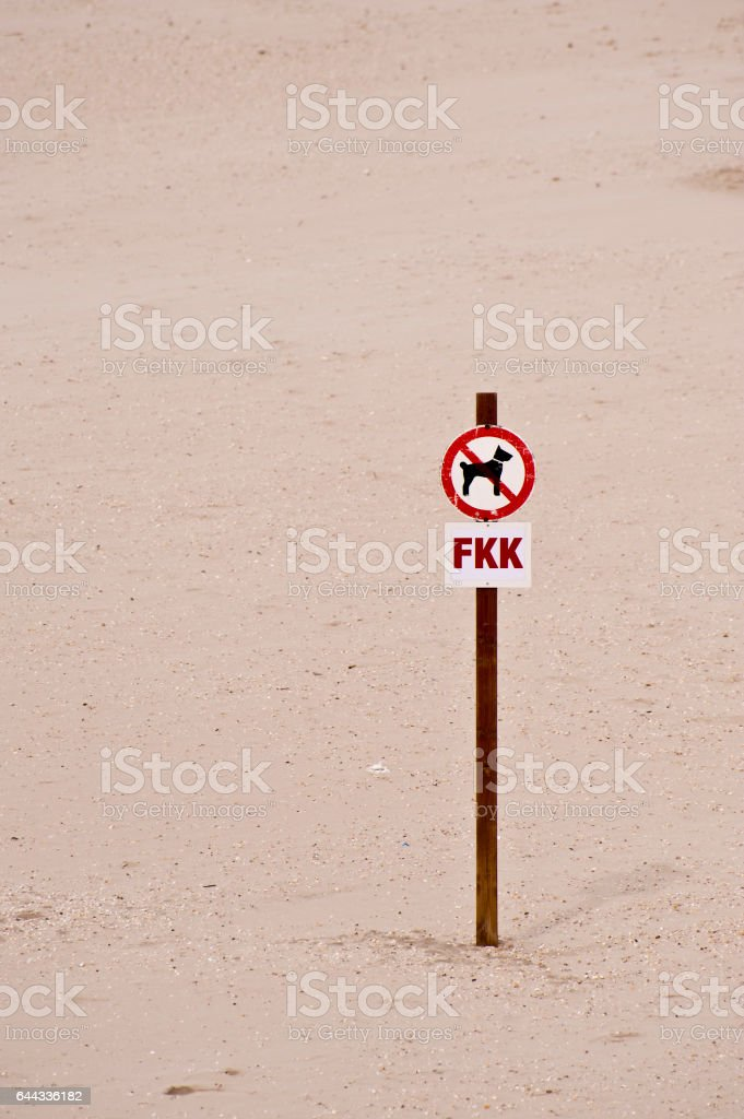 Dogs banned stock photo