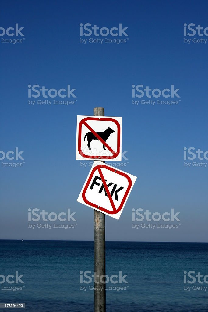 dogs not allowed stock photo