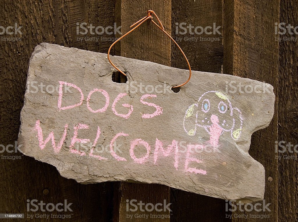 Dogs Welcome! royalty-free stock photo