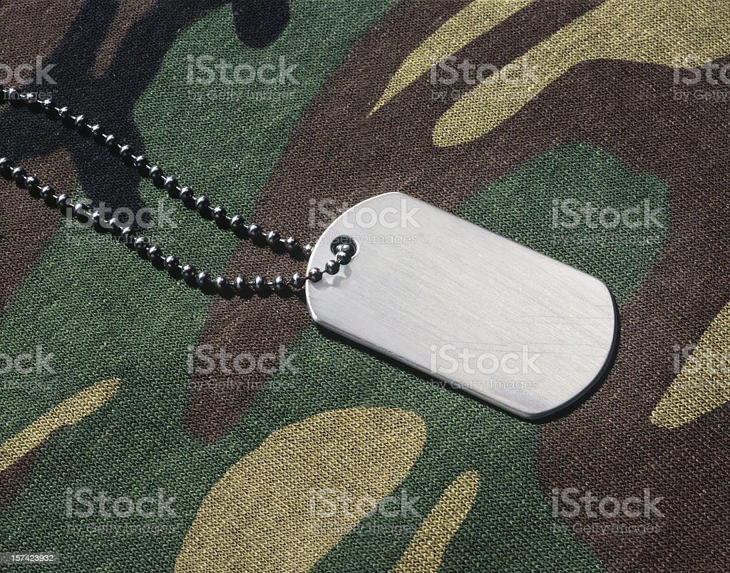 Dogtag royalty-free stock photo