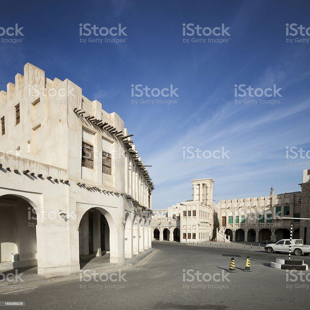 Doha architecture stock photo