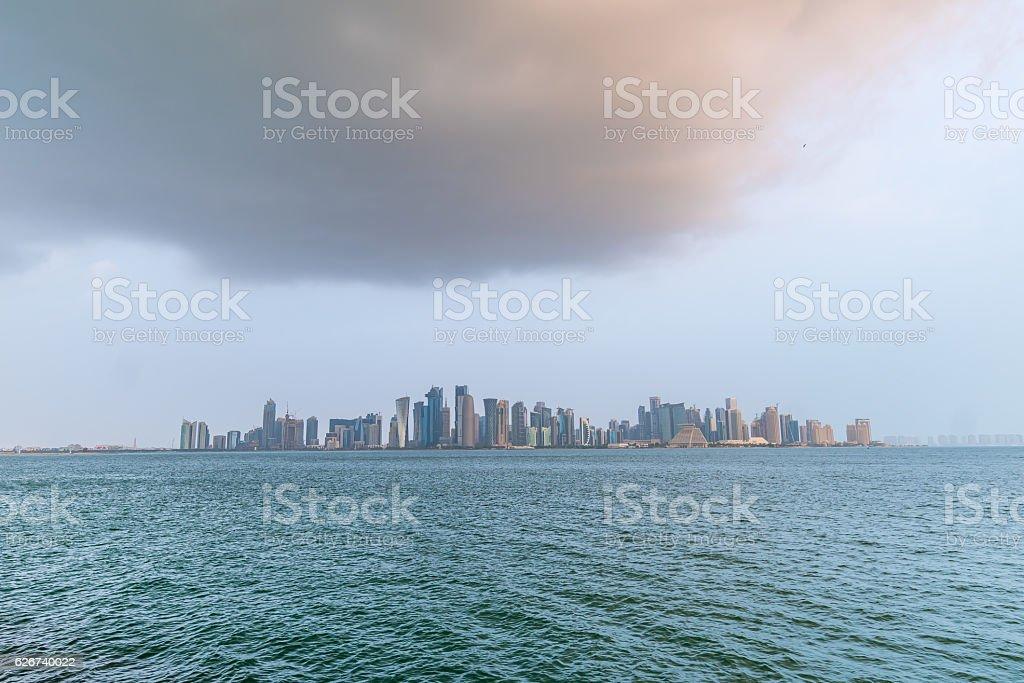 Doha Beautiful Morning stock photo