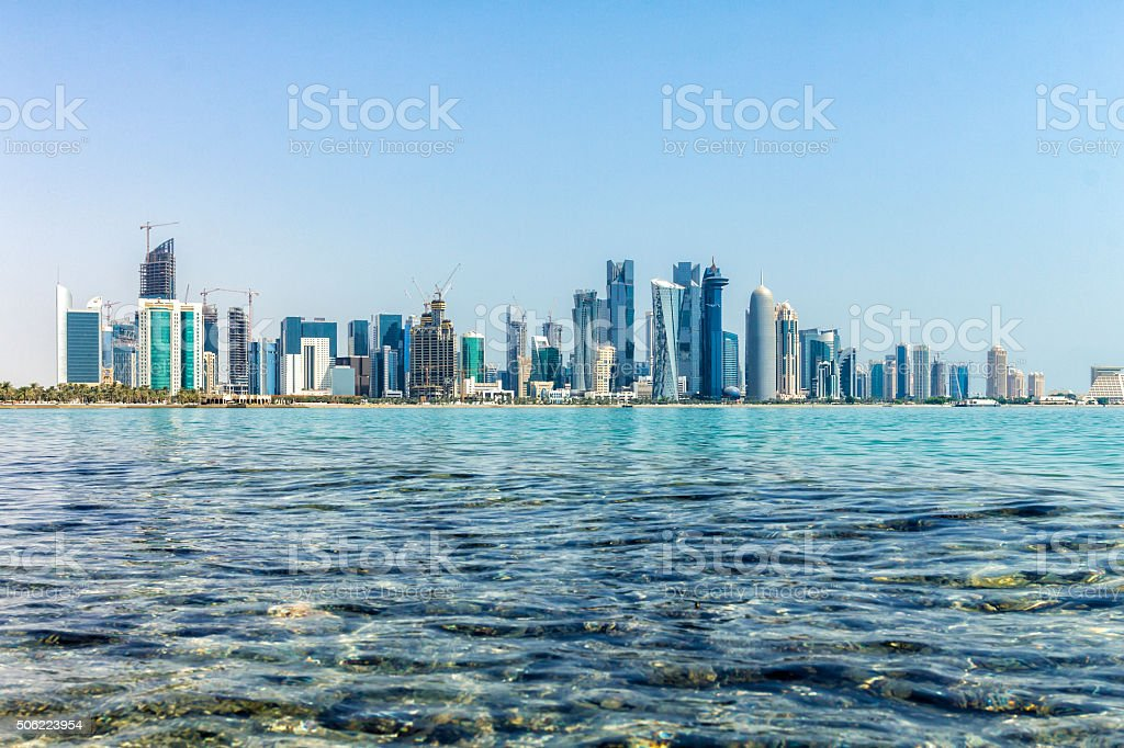 Doha Business District Skyline stock photo