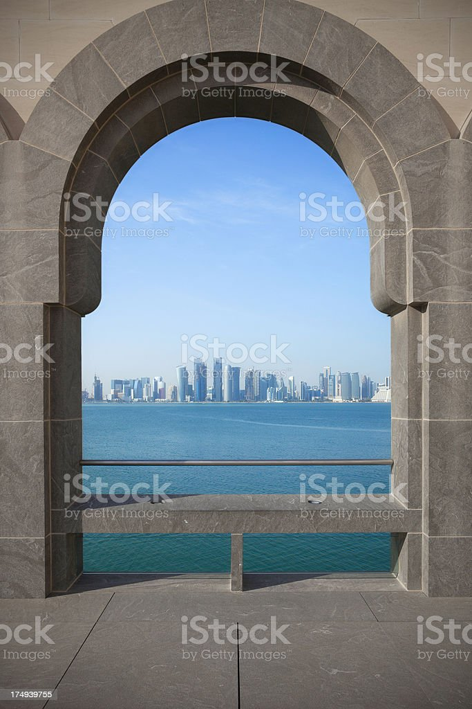 Doha city stock photo