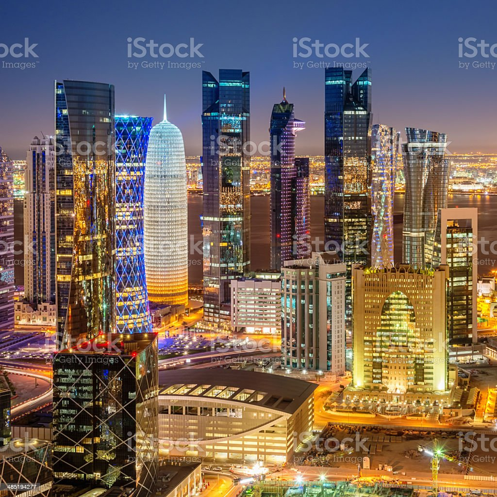 Doha Cityscape Skyline View from Above stock photo