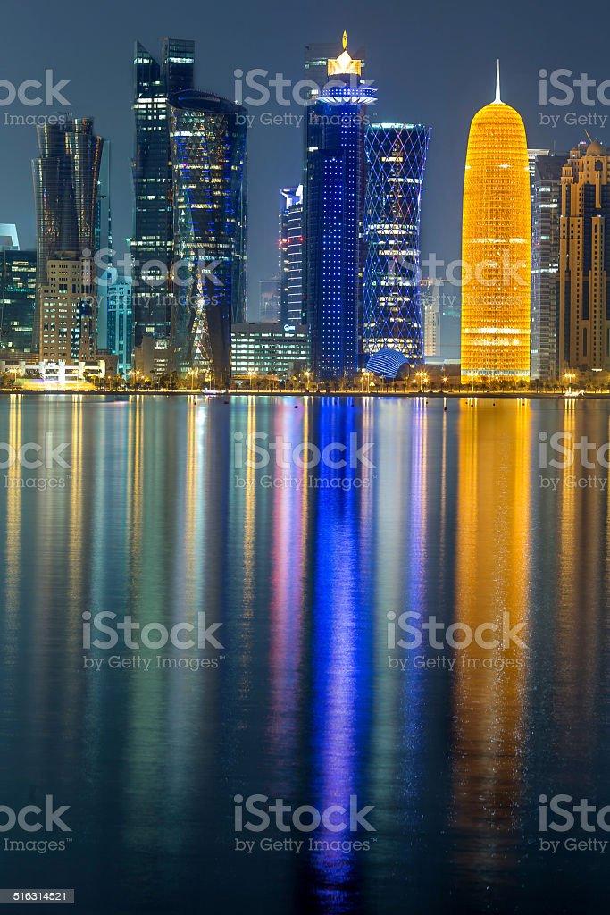 Doha Cornice stock photo