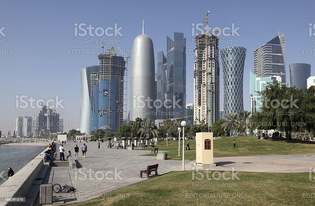Doha Corniche, Qatar stock photo