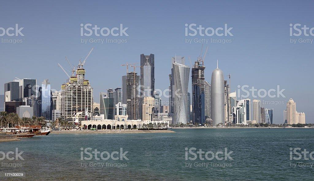 Doha Downtown, Qatar stock photo