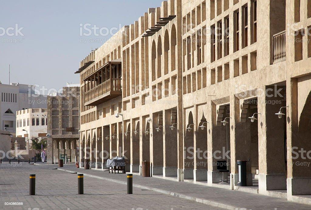 Doha Old Souk stock photo