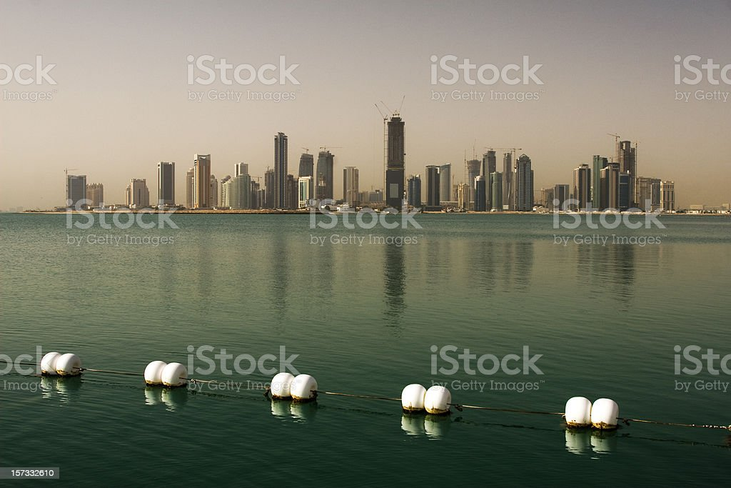 Doha skyline royalty-free stock photo