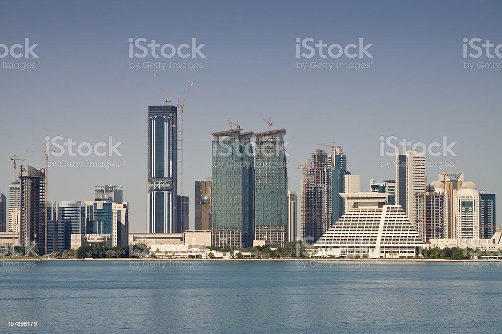 Doha skyline royalty-free stock photo