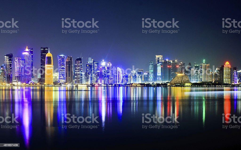 Doha Skyline stock photo