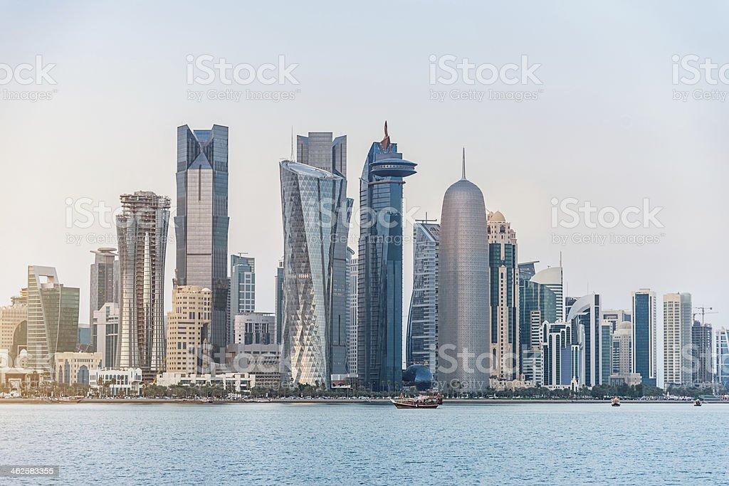 Doha Skyline, Qatar stock photo