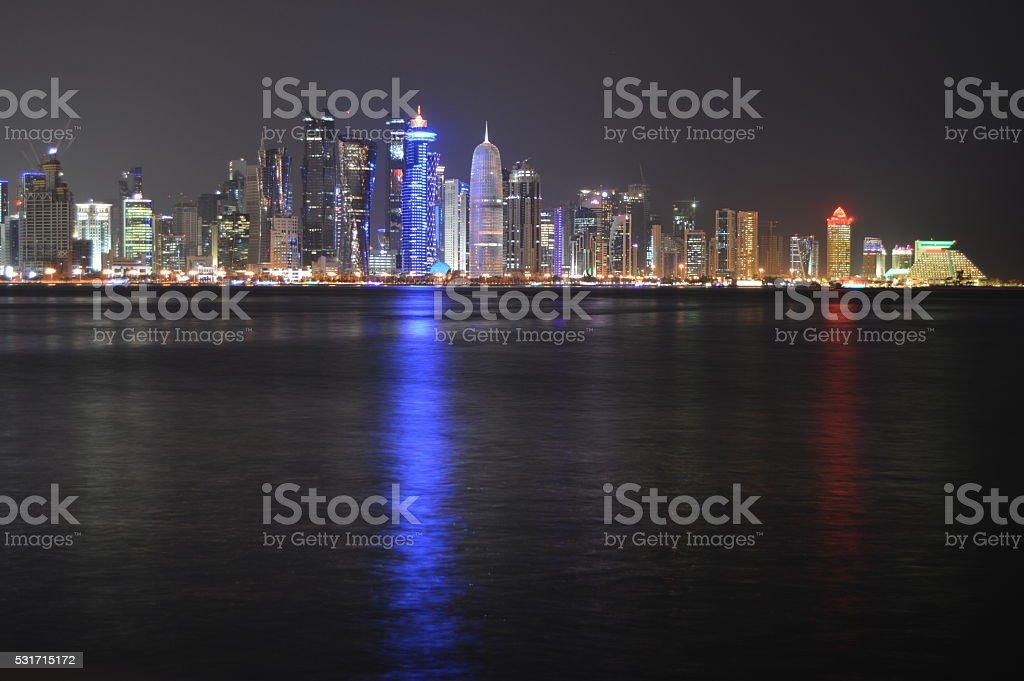 Doha Towers - Qatar stock photo