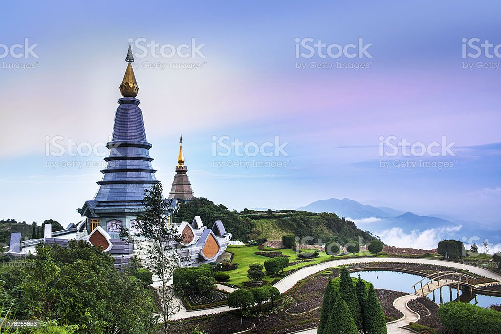 Doi Inthanon, Chiang Mai, the highest mountain in Thailand. royalty-free stock photo