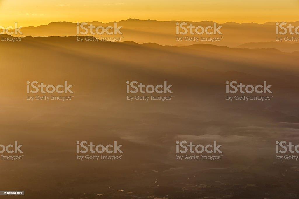 Doi Luang Chiang Dao, High mountain in Chiang Mai Province stock photo