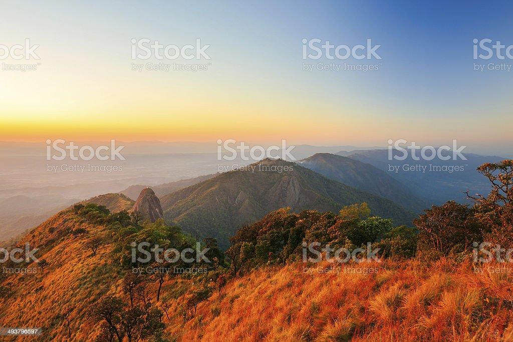 Doi luang-park bei Sonnenuntergang Lizenzfreies stock-foto