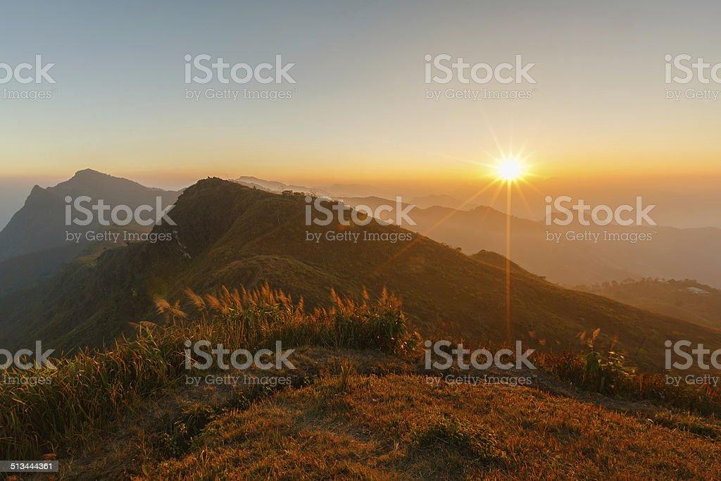 Doi Pha Tung, Chiangrai Provinz, nördlich von Thailand. Lizenzfreies stock-foto