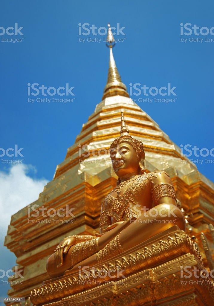 Doi Suthep Buddha stock photo