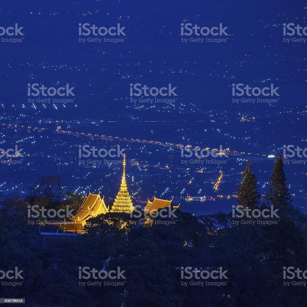 Doi Suthep pagoda ,Chiang Mai, Thailand stock photo