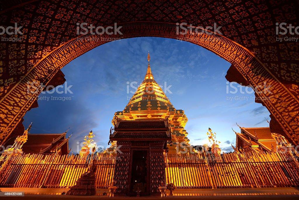 Doi Suthep Temple Famous Temple in Chiang Mai Province, Thailand stock photo
