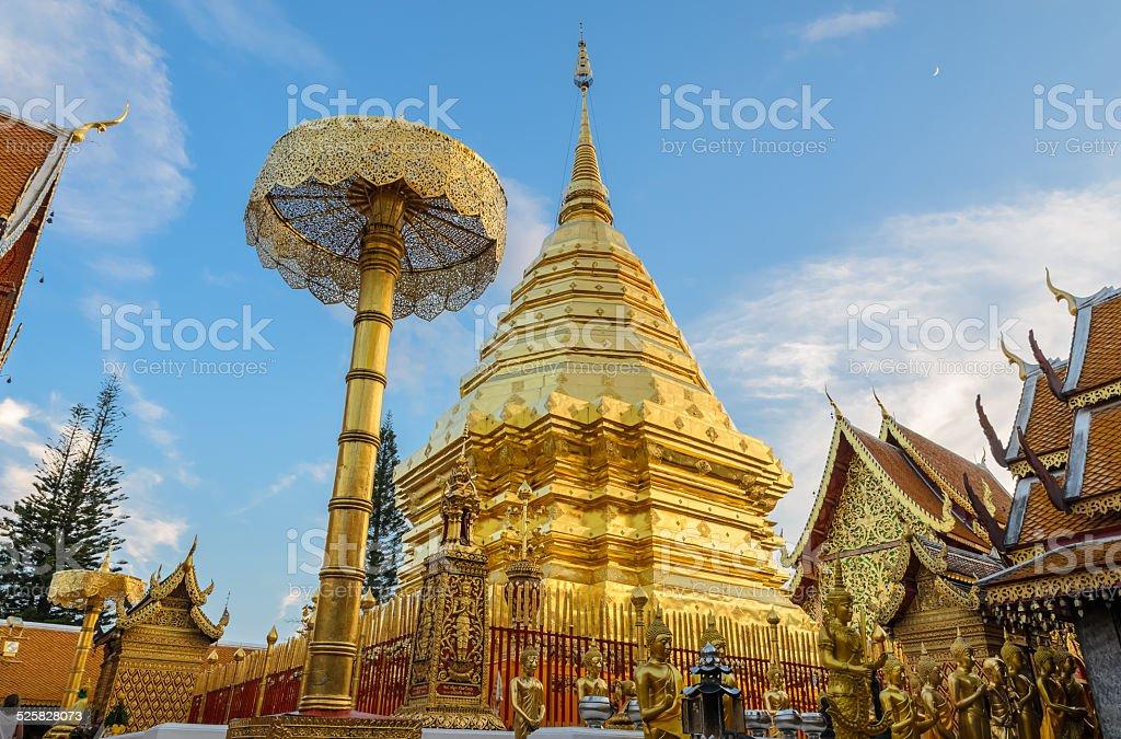Doi Suthep temple, landmark of Chiang Mai, Thailand stock photo