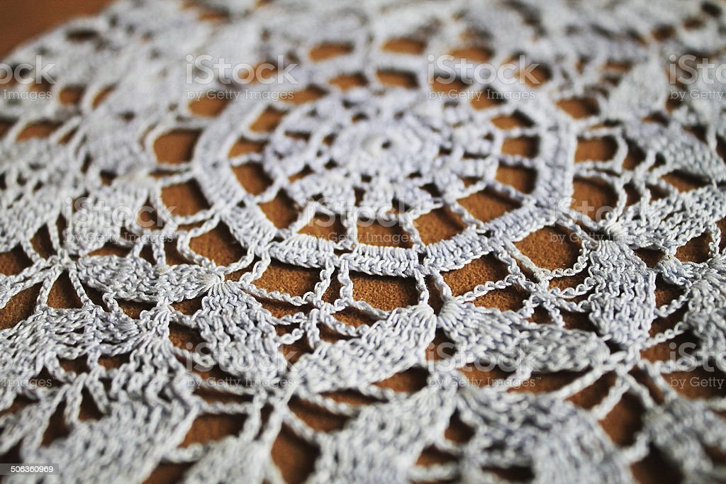 Doily texture stock photo