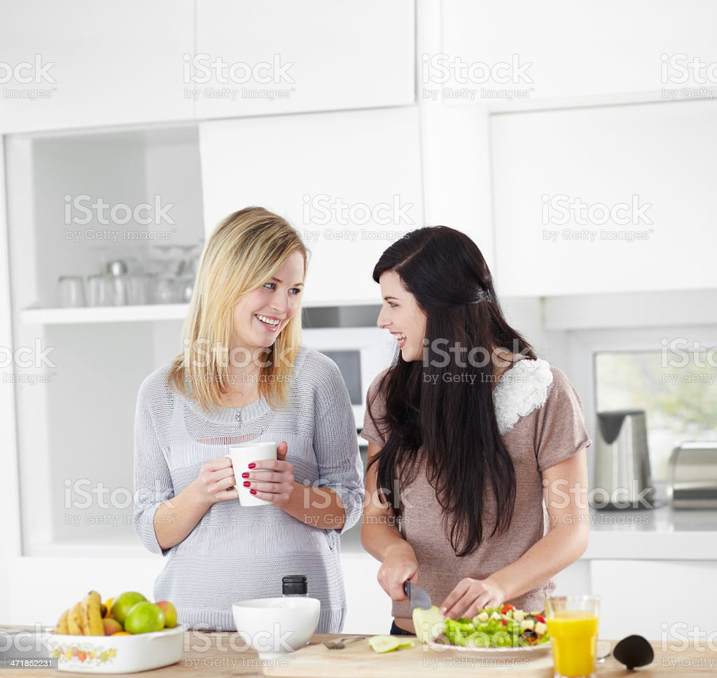 Doing a 'girls'' lunch the healthy way royalty-free stock photo